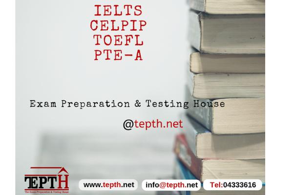 IELTS, TOEFL, PTE, OET, CELPIP exam preparation and test center