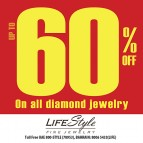 UPTO 60% DISCOUNT ON DIAMOND JEWELRY AT LIFESTYLE FINE JEWELRY