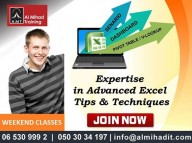 Advanced Excel Training - call 0503034197 sharjah / Dubai