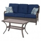 Hanover Orleans 2-Piece Patio Seating Set in Navy Blue