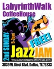 2nd Sunday Jazz Jam at the Labyrinth Walk Coffee House Sept. 11, Dallas
